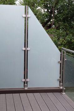 Elegant Glas Edelstahl Sichtschutz Transvent Bis 1.800 Mm Höhe