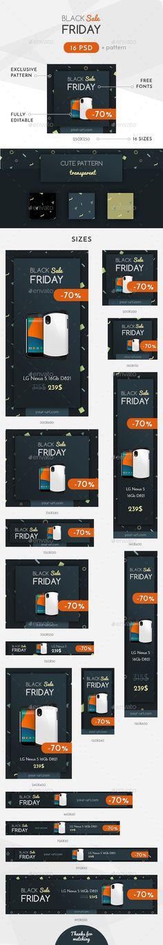 Black Friday Sale Web Banner Template PSD #design #ads #promote Download: http://graphicriver.net/item/black-friday-sale-banner/13814728?ref=ksioks