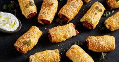 Looking for an easy vegetarian starter or snack? You can't go past these hearty sweet potato and feta sausage rolls.
