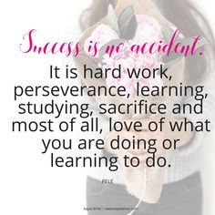 Absolutely! Success doesn't happen overnight or by accident. It takes A LOT to be successful. So many don't talk about what goes on behind the scenes of but I will tell you that there's a lot of blood, sweat, and tears that go into being a successful entrepreneur. There are ups and downs. Days you want to give up and days you feel like you're on top of the world. No matter what, look at how far you've come and not how far you have left to go. Strive for progress, not perfection!