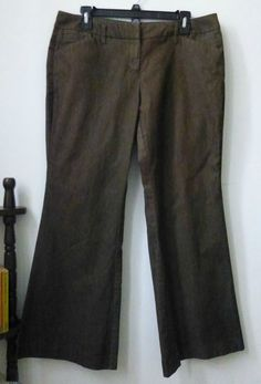 161650e14f39f Size 12 Women s Brown Stretch Casual Bootcut Pants  NewYorkCo