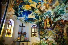 Mural by Heleen Cornet, Sacred Heart Church, Saba Island, Netherlands