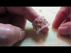 Beading4perfectionists : Swarovski -glass beads - miyuki (thumb) ring beading tutorial - YouTube