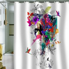 DENY Designs Holly Sharpe Tropical Girl Shower Curtain, 69 by 72 DENY Designs,http://www.amazon.com/dp/B008AKOEV8/ref=cm_sw_r_pi_dp_G4AQsb0W3VB25XPP