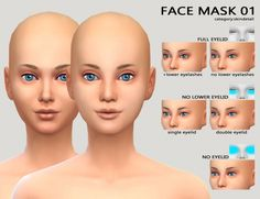 FACEMASK 01 + lower eyelid + redness at Imadako via Sims 4 Updates