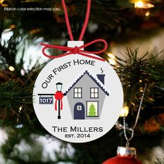 personalized Christmas ornament, first house custom ornament