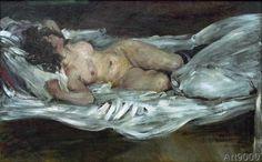 Lovis Corinth - Liegender weiblicher Akt