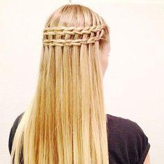 double scissor waterfall braid