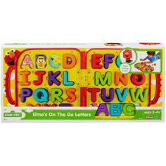 Give your little one a fun way to learn the alphabet with the Sesame Street Elmo& On The Go Letters toy. They can spell out simple words by snapping different letters into place all while learning each one. Learning The Alphabet, Learning Toys, Kids Store, Toy Store, Elmo Abc, Elmo Toys, Sesame Street Characters, Thing 1, Winter Painting