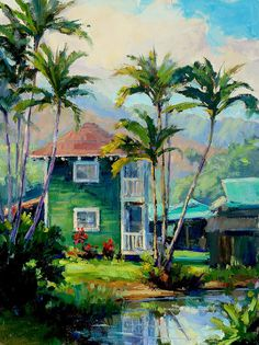 Hawaii Painting - Hanalei House by Jenifer Prince