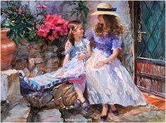 NEAR OLD DOOR, painting, pictures on Volegov.com