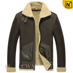 Sheepskin Bomber Jacket CW857198 Cool sheepskin Bomber jacket boasts rugged sheepskin shearling design with distressed and gentle sheen, and supreme insulation natural shearling fur. Double buckle fastener at the shearling collar to the smooth leather all over piping, adjustable buckle. www.cwmalls.com PayPal Available (Price: $1557.89) Email:sales@cwmalls.com
