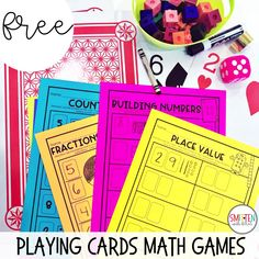 Check out these fun playing cards games for math that include free printables.