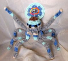 Peacock Spider Crochet Amigurumi by SeaKnightsCraft on Etsy