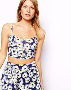 ASOS Cami Top in Daisy Print