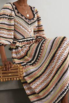 Crochet Shirt, Knit Crochet, Cotton Slip, Crochet Woman, Crochet Clothes, Crochet Outfits, Ulla Johnson, Crochet Fashion, Crochet Designs