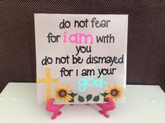 Do Not Fear BIBLE VERSE Ceramic Tile Hime Decor by crazydaisy12