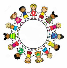 Illustration about Cartoon background with children standing in a circle. Illustration of human, cheerful, cute - 37019148 Artsy Background, Cartoon Background, Kids Sprinkler, Stick Figure Drawing, School Coloring Pages, Bible Crafts For Kids, School Clipart, Paper Crafts Origami, Simple Doodles