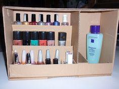 Etag re vernis cadre nail polish framed shelf rangement for Meuble rangement vernis a ongles