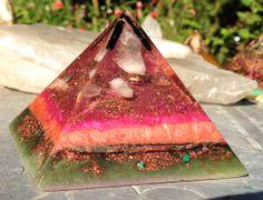 Infinite Love Orgonite Pyramid by VioletFlameOrgoneLA on Etsy, $88.00