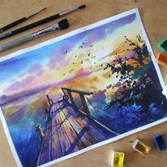 Watercolorist: Светлана Решетова #waterblog #color #art by watercolor.blog