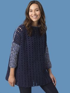 Crochet Kit - Level 2 - Easy Crochet Pullover - Lion Brand Yarn