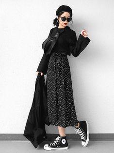 Fashion Tips Outfits .Fashion Tips Outfits Mode Outfits, Korean Outfits, Skirt Outfits, Casual Outfits, Korean Style Dress, Modest Fashion, Hijab Fashion, Fashion Outfits, Dress Fashion