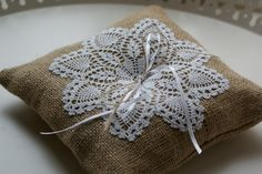 Ring bearer pillow by Littlewhiteboutique on Etsy, $25.00