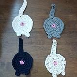 Crocheted cat butt coasters $10