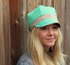 Chemo hat with hair inserts. $65.00, via Etsy.