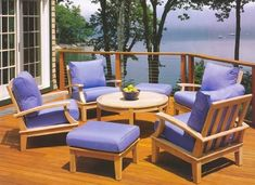 "Grade-A Teak Wood Luxurious Sofa Set Collections (SR1): 5 Pc- 4 Lounge Chairs and 35"" Round Coffee Table [**Click To See More Choices...] by TeakStation. $1715.99. This beautiful and luxurious 5 Piece Teak Sofa set can be used as indoor or outdoor furniture.. Sunbrella fabric Cushions are sold & listed separately for additional Cost,Contact us for more info. Coffee Table - 35"" Diameter x 17"" Height **Ottomans shown in pictures are not included.**. Approx. Dimensions: Lounge..."