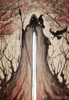 Odin by UnripeHamadryad.deviantart.com on @deviantART