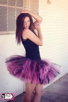 PLUS SIZE Teen-Adult Punk Rock Tutu Skirt - Super-full Hot Pink/Black tutu Photo Prop, Costume, Birthday, Women, Bachelorette - Up to 5XL