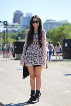 Street style: Crochet dress at Lollapalooza 2012 (we won't go into what I wore at Lollapalooza '95...)
