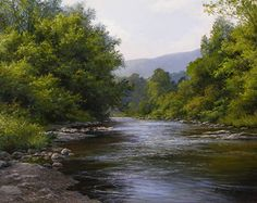 Late Summer Waters by Andrew Orr Oil ~ 11 x 14
