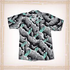 "Avanti Vintage Hawaiian Shirt Replica 1940's ""Surfer"" - Navy | 100% Heavy weight Crepe De Chine silk | FREE SHIPPING! | Hawaiian Shirt Dude"
