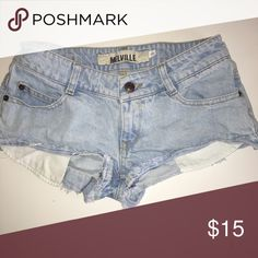 Brandy Melville Denim Cut-off Shorts Barely worn and fits approximately a size 24 Brandy Melville Shorts Jean Shorts