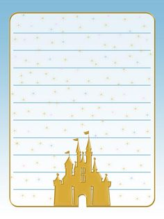 Journal Card - Cinderella Castle - Gold - lines - 3x4 photo pz_DIS_822_GoldCinderellaCastle_lines_3x4.jpg