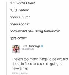 5sos>>TRUE <<< they do this every time! They give us nothing then BOOM they give us everything