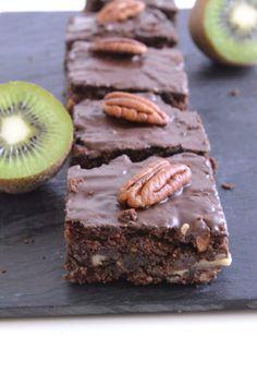 Brownie au chocolat et à la purée d'amandes sans sucre raffiné ni beurre - healthyfoodcreation