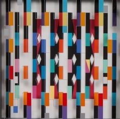 Yaacov Agam. Op Art Agamograph, Color Screenprint