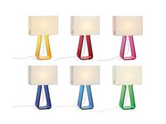 tube top lamps. pink is so quuuute