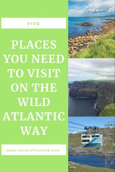 5 places you need to visit on the Wild Atlantic Way - Unravel Ireland Places Around The World, Around The Worlds, Mini Vacation, Natural Wonders, Mother Nature, Travel Inspiration, Vacations, Natural Beauty, Ireland
