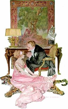 "Collier's Print, ""The Fortune Hunter"" (c. 1915) F.X. Leyendecker (brother of J.C. Leyendecker)"