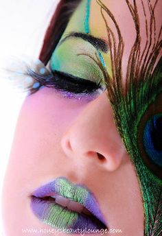 Peacock Make-up  #style #fantasy #beauty #makeup #cosmetics #editorial #photography