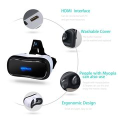 1bc4eabfae06 3D VR All in One Virtual Reality Headset WiFi 2.4G Bluetooth 1080P 360  degree Panorama Theater VR Headset Supports TF Card for PC Movie Games  Youtube Google ...