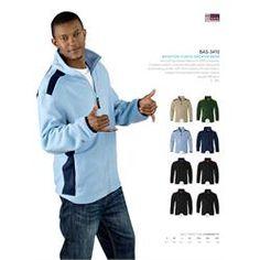 Branded US Basic Brighton Fleece Sweater - Men's Corporate Outfits, Corporate Gifts, Fleece Sweater, Men Sweater, Promotional Clothing, S Models, Brighton, Logo, Jacket