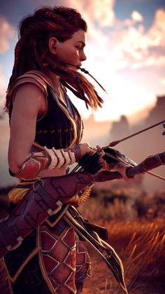 Horizon Zero Dawn Aloy, Warrior Princess, Fantasy Warrior, Fantasy Art, Fantasy Characters, Female Characters, Video Game Art, Video Games, Horizon Zero Dawn Wallpaper