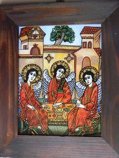 Sfanta Troita. Adam Curta Religious Art, Angels, Glass, Painting, Decor, Decoration, Lds Art, Drinkware, Angel