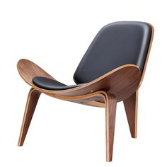 Walnut Chair Classic Design – Larpi Store Accent Chairs For Living Room, Dining Room Chairs, Desk Chairs, Canapé Simple, Black Leather Chair, Leather Chairs, Pu Leather, Single Sofa Chair, Modern Chairs